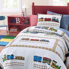 Can't decide on a big boy room theme. Maybe trains?