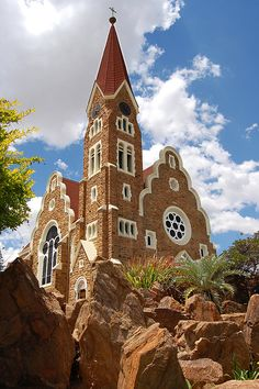 The Christ Church (or Christuskirche) is a historic landmark and Lutheran church in Windhoek, Namibia. Bali Lombok, Beautiful World, Beautiful Places, Land Of The Brave, Namib Desert, Namibia, Les Continents, Church Building, West Africa
