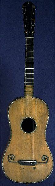 Instrumentos Musicais início, antiguidade 5 Curso de Guitarra barroca por Nicolas aine por volta de 1770