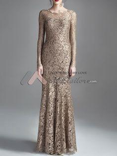 Exquisite lace long evening dress