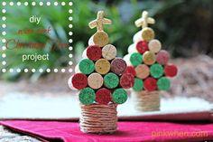 DIY WIne Cork Christmas Tree Craft