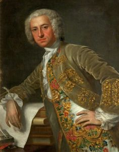 Portrait of an Unknown Gentleman (previously called 'David Garrick') by Jean-Baptiste van Loo (attributed to) Theatre Royal, Bath,  c.1740 |BBC - Your Paintings -