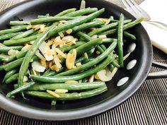 Sesame Garlic String Bean Almondine