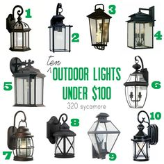 build me a home: outdoor lighting edition
