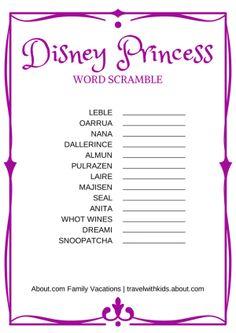 14 free disney printables for kids - Disney Princess Games And Activities