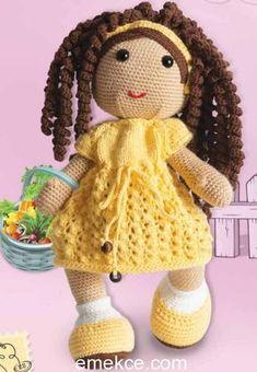 Amigurumi örgü oyuncaklar hem organik hem sağlıklı hemde ekonomik olmasıyla çocuklarınız ve sizler için bulunmaz bir nimet adeta; Emekce.comolarak sizler için kıvırcık saçlı kız amigurumi oyuncağı…