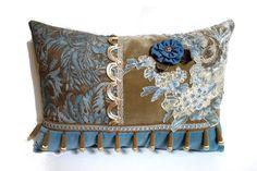Decorative pillow patchwork pillow bohemian by JoJosArtisticDesign, $78.00