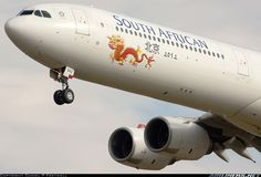 This plane is ready for Beijing! South African Airways A340-642
