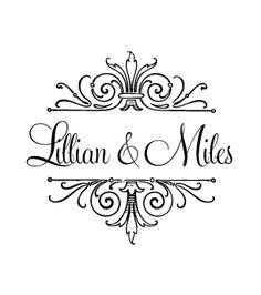 Love Logo #1 - Whimsical Wedding Logo Design