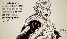 I'm no longer a member of Fairy Tail but if something happened ro the old guy I can still grt angry about it, right? Laxus Fairy Tail, Fairy Tale Anime, Fairy Tales, Laxus Dreyar, Miraxus, Fairy Tail Pictures, Love Fairy, Otaku Anime, Fairytail