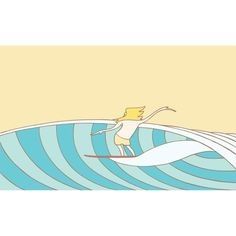 The second version of a doodle I doodled... Surf art by Joe Vickers