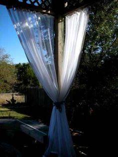 Mosquito netting curtains and no-see-um netting curtains - found the curtains   i want for the living room safari theme