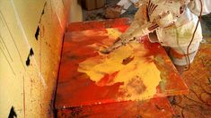 Melissa Ayr - Painting with Air 2 - Contemporary Abstract Artist Paints ...