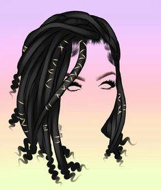 By: Jordan Weise JBW_Art Commission Work Available Black Love Art, Black Girl Art, Art Girl, Outline Drawings, Art Drawings Sketches, Cartoon Drawings, Black Woman Silhouette, Instagram Cartoon, Faux Locs Hairstyles