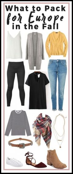 What to pack for Europe in the Fall. Europeans always look put together. Whether it's a drape-y scarf, some structured leather boots, or some tailored jeans, they make frolicking through the city look like they're walking on a catwalk. I find that packing is one of my favorite sports (can we call it a sport yet?) and I always make sure I can … Fall European Fashion.