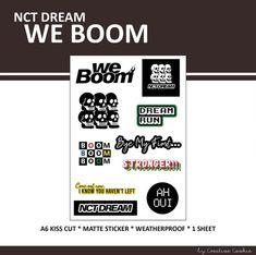 Print Foto, Nct Logo, Aesthetic Stickers, Note Paper, Printable Stickers, Banner Design, Portfolio Design, Sticker Design, Nct Dream