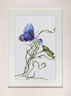 Emotion - Blue Butterfly Cross Stitch Kit B2242