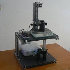 New design desktop open source durable precise DIY DLP 3d printer full kit
