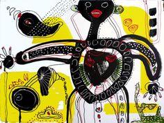 Acrylbild 'bimbodibambo' - Angelika Rump