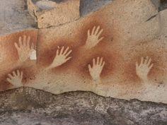 size: Photographic Print: Cave of the Hands, Argentina by Javier Trueba : Aboriginal Symbols, Rock Art, Custom Framing, Find Art, Framed Artwork, Cave, Painting, Rooms, Artists