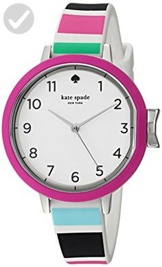 f9474093fee3 kate spade new york Women s  Park Row  Quartz Stainless Steel and Silicone  Casual WatchMulti