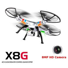 (In stock) 100% Original Syma X8G 2.4G 4ch 6 Axis Venture with 8MP Camera RC Quadcopter RTF RC Helicopter Christmas Gift