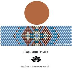 peyote ring patternPDF-Download 128R beading pattern