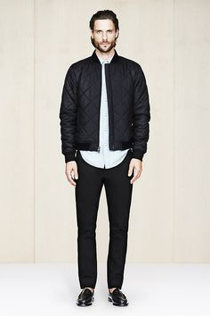 January - Look 5   Slim Fit Jean, Quilted Bomber, Edward Button-Down Slim Fit Shirt, Bass Weejuns