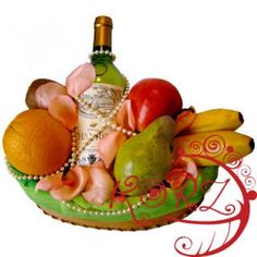 Fruit and Wine Gift Basket to Trinidad-and-Tobago