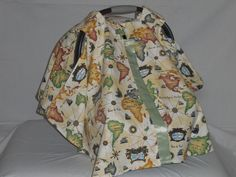 Canvas world map baby car seat cover/canopy by SewCuteNanna on Etsy https://www.etsy.com/listing/246362479/canvas-world-map-baby-car-seat