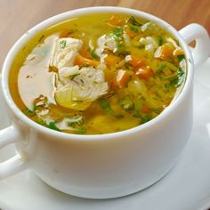 A homemade broth recipe and turkey soup perfect for a cool fall day.. Turkey Rice Soup Recipe from Grandmothers Kitchen.