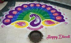 Kolam and Rangoli designs Simple Rangoli Designs Images, Cool Designs, Peacock Rangoli, Diwali, Art Forms, Outdoor Blanket, India, Pattern, Culture