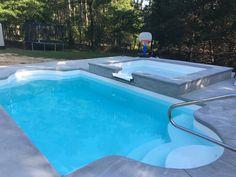 alaglas pool, fiberglass pool, pool day