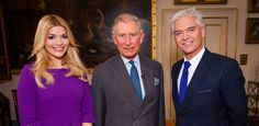 Holly Willoughby, HRH The Prince of Wales and Philip Schofield