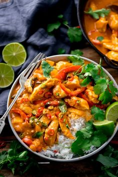 A quick and easy Thai red curry made with shop-bought red curry paste, chicken and coconut milk. So fresh, aromatic and full of flavour! Thai Red Chicken Curry, Thai Red Curry, Curry Recipes, Asian Recipes, Thai Recipes, Cooking Recipes, Beef Massaman Curry, Thai Curry Paste, Hottest Curry