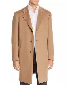 Canali - Wool & Cashmere Classic Fit Overcoat in Camel Size 58 Merino Wool Sweater, Cool Things To Buy, Stuff To Buy, How To Do Yoga, Camel, Shop Now, Duster Coat, Cashmere, Mens Fashion