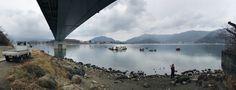 河口湖 and fishermen. #bgtravel