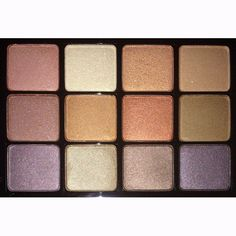 Champagne and bronze palette. Viseart Eyeshadow Palette 06 Paris Nudes