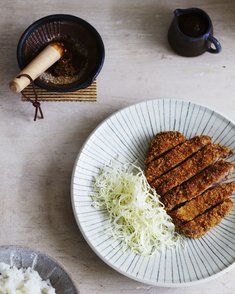 """Tonkatsu (Fried Crumbed Pork Cutlets)  - please """"follow me"""" on Eatlove's fabulous new foodie site  - free QUALITY, recipes and foodie info by top chefs and food writers!"""