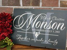 Family Monogram Board