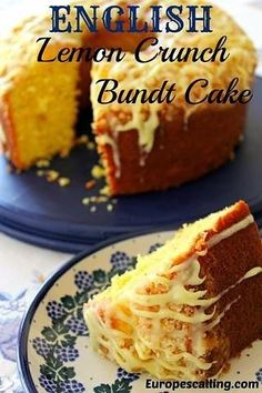 English Lemon Crunch Bundt Cake