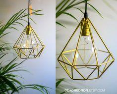Himmeli Diamond Geometric Lamp (Upside Down)