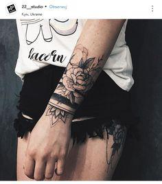 Pin by Amy Patton on Tattoos Arm band tattoo, Tattoos, Tattoo designs - Wrist Band Tattoo, Forearm Band Tattoos, Forearm Flower Tattoo, Armband Tattoo, Tattoo Bracelet, Thigh Tattoos, Arm Cuff Tattoo, Black Band Tattoo, Model Tattoos