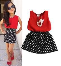2016 New Summer Fashion Kids Girls Clothes Sleeveless Chiffon Tops Vest Polka Dot Bowknot Skirt Outfits Children Clothing Sets - Kid Shop Global - Kids & Baby Shop Online - baby & kids clothing, toys for baby & kid Fashion Kids, Baby Girl Fashion, Fashion 2016, Babies Fashion, Fashion Trends, Baby Girl Dresses, Baby Girls, Baby Dress, Kids Girls