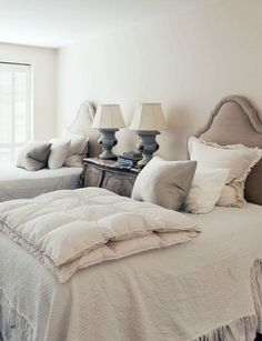 neutral twin beds
