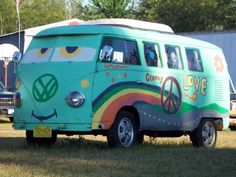 Hippie Van from the movie Cars