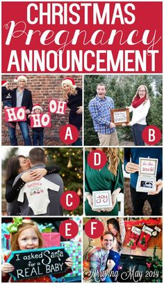 Christmas-themed Pregnancy announcements!