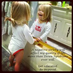 """A negative society will affect my quality of life far more than Down Syndrome ever will"" I love my Down's babies at school! Beautiful Children, Beautiful Babies, Beautiful People, Cute Kids, Cute Babies, Down Syndrome Baby, Down Syndrome Awareness, Get Educated, Special People"