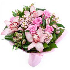 Купить букет с орхидеями и розами за 2790 руб - DAFLORA