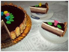 "Tort "" 3 Ciocolate"" Deserts, Cake, Food, Postres, Pie, Mudpie, Desserts, Cakes, Hoods"